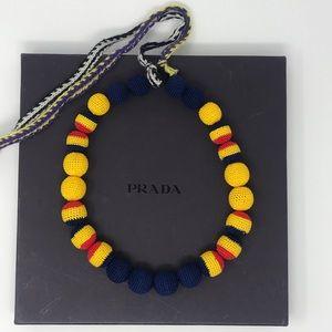 PRADA Vintage Ball Macrome Necklace